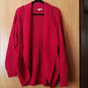 Red chunky cardigan